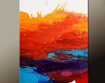 Abstract Canvas Art Painting Canvas 36x24 Original Modern Contemporary Paintings by Destiny Womack - dWo - Chasing Dreams