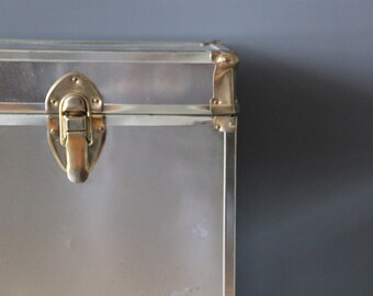 Glam Brass Trunk / Side Table