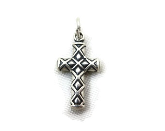 Sterling Cross Necklace Pendant - Silver Charm