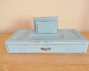 Vintage Painted Jewelry Valet Phone Charging Station