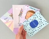 Four card lucky dip