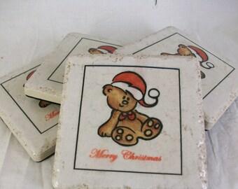Teddy Bear Tile Coasters