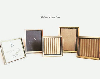 Vintage Picture Frames, Brass Metal Photo Lot