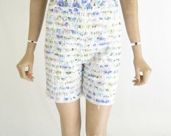 Vintage 60's  Ruffled Blue Floral BLOOMERS.  Size Medium