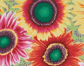 Sunflowers Snow Leopard Designs Freespirit fabric 1 yard