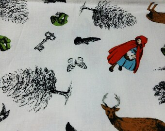 Japanese Cotton Fabric Little Red Riding Hood 4 to choose