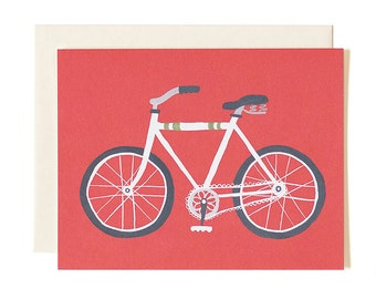 Red Bike Illustrated Card