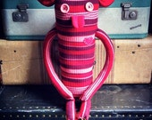"""Sweater Monster """"June"""" - One Of A Kind / Eco Friendly / Reclaimed / Upcycled Stuffed Animal"""