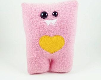 Bubblegum Pink Nubbin - Custom Color Heart - Made To Order
