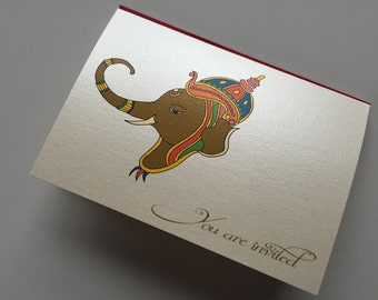 House warming invitations traditional indian with ganesha - Return gifts for housewarming ceremony ...