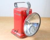Vintage Delta Poweray Flashlight • Vintage Red Camping Lantern • Vintage 6 Volt Lantern Light