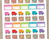 Delivery Trucks and Packages Printable Planner Stickers Instant Download Printable Sticker Set PDF for Online Orders Order Tracking