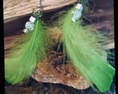 Feather bead accent earings