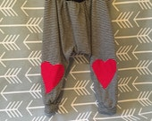 Toddler Heart Harem Pants 3T