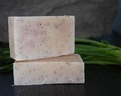 Lemon Poppyseed Soap-Handmade soap, vegan, exfoliating, fruit, citrus, natural soap, lemon, lemongrass, cold process soap, body bar,dry skin
