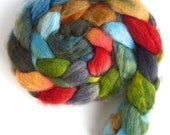 BFL Wool Roving - Hand Painted Spinning or Felting Fiber, Brother and Sister