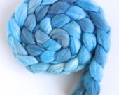 Pre-Order Colorway: Polwarth/Silk Roving - Handpainted Spinning or Felting Fiber, Sky Behind Trees