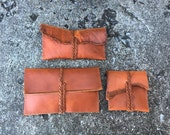 Distressed Leather Eye ware Case/Wallet