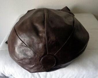 Reserved Vintage deep brown genuine leather  ex large size  hobo, satchel shoulder bag, work bag , wide strap  from 90s clean cond