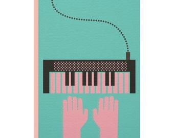 The 45 Club 'Keyboard' Greetings Card