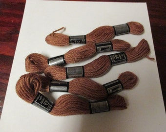 Lot of 5 DMC Wool Tapestry Yarn Needlepoint and Crewel Yarns Color Number 7466