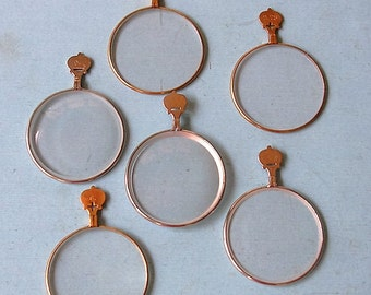 6 Antique Optical Lens Gold and Silver Colored Optical Lens DIY Jewelry Steampunk Jewelry