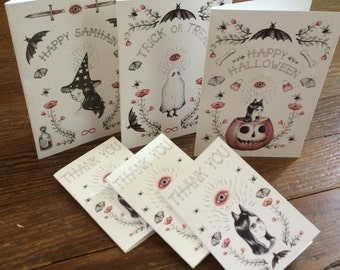 Halloween Holiday card pack