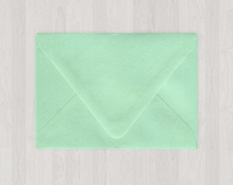 10 A7 Envelopes - Euro Flap - Mint & Light Green - DIY Invitations - Envelopes for Weddings and Other Events