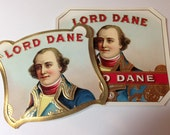 Antique Lord Dane Cigar Labels beautifully embossed and gilded   Set of Ten