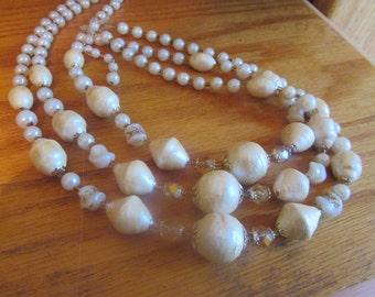 3 strand bubble beads