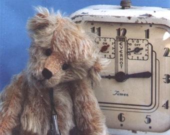 """8"""" Little Eddie Teddy Bear Pattern by Linda Johnson of BEARDEAUX BEARS"""