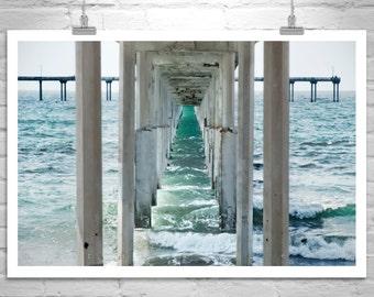 Ocean Art, Beach Art, San Diego, California Beach, Ocean Beach Pier, Fine Art Photography, Black and White Photography, Murray Bolesta