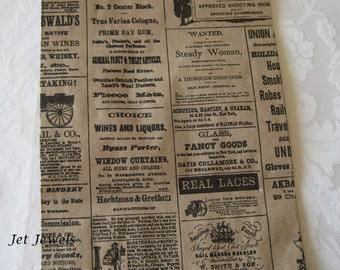 100 Newspaper Bags, Newsprint Bags, Gift Bags, Vintage Style Bags, Kraft Bags, Party Favor Bag, Merchandise Bags, Rustic Wedding 6x9
