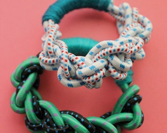 Double knotted bungee cord bracelet