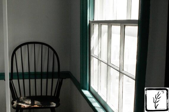 Color Photograph, home decor, wall art, photo print, fine art, chair, window, sunlight, Walt Whitman, poetry, haiku, Long Island, New York
