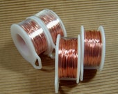 Bare Copper Wire - One 7 Yard Spool of 18 Gauge Uncoated Copper Dead Soft Wire, Great for Jewelry Projects, Wire Wrapping and Oxidizing