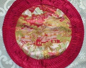 Pillow Cover Chinese Silk Brocade Embroidered Vintage