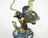 Glass Seaturtle Lampwork Glass Sea Turtle Paperweight Glass Sculpture-Sealife Collectable Figurine RC Art Glass