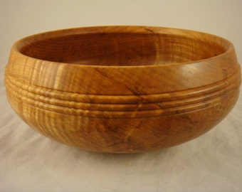 Maple Wood Salad Bowl With Bead Detail