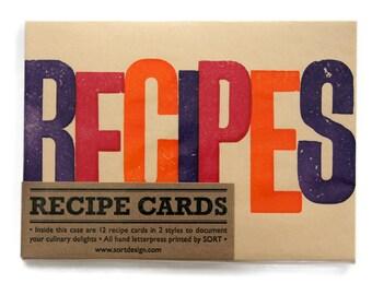 Letterpress Recipe Cards Pack
