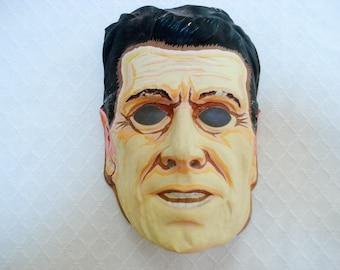 Vintage Halloween mask - Ronald Reagan