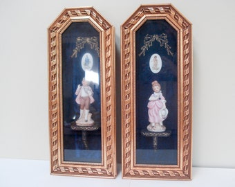 Beautifully framed shadowbox pictures -  Pinkie and Blue boy