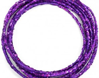 Purple Glamor Rope - Add some glamor to your craft creations-- By the yard