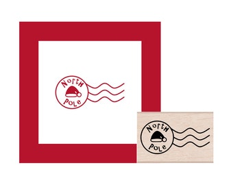 Holiday North Pole Postmark Rubber Stamp
