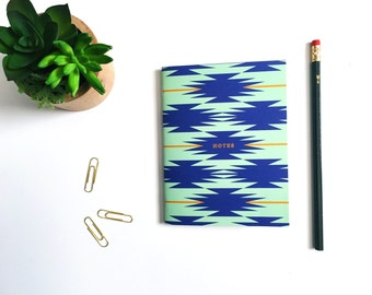 Recycled Notebook Southwest Notes Handmade Eco Friendly Journal Jotter Notes List Stocking Stuffer