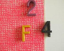 Formica - screen printed fabric - neon and metallic colours