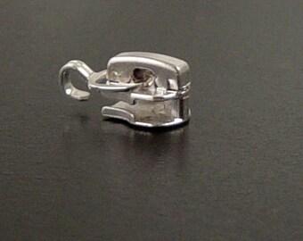 CLEARANCE Findings Supplies Grab Bag Bead Zipper Pull Slider Teeth Silver Widows Orphans (198grab1)
