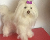 Needle felted custom dog sculpture