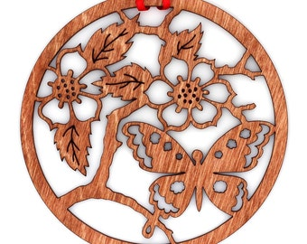 Wooden Butterfly Ornament