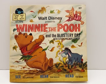 Winnie the POOH and the blustery day 1978 Children's read along record book #327 33 1/3  (N#1)